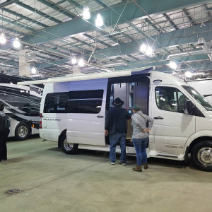 Class Bs at the Indoor RV Show at Cal Expo